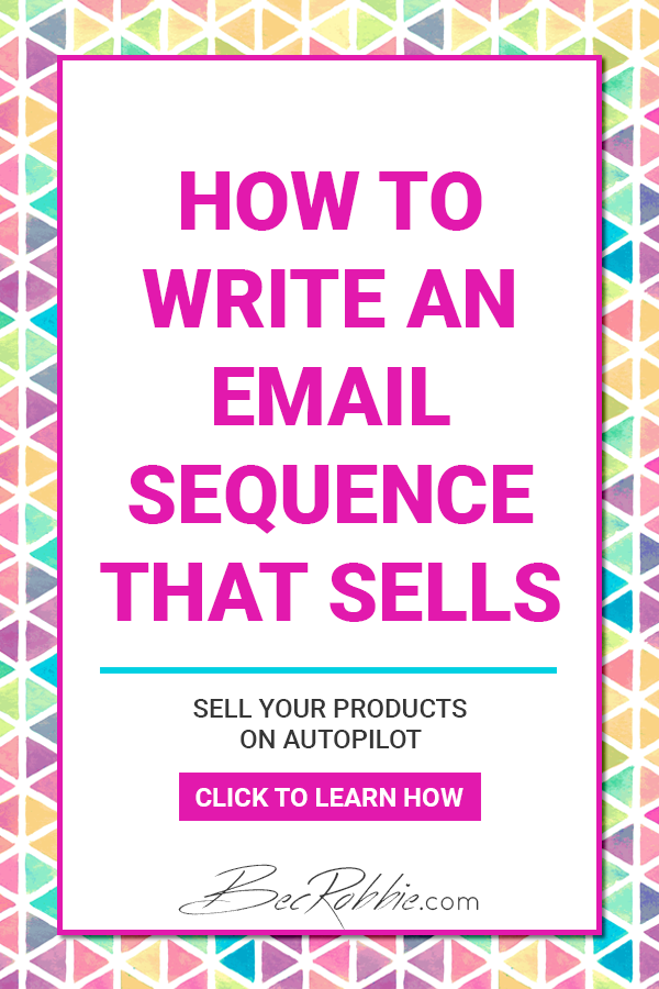 How to write an email sequence that sells your products on autopilot